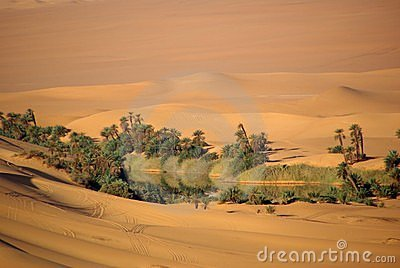 Lake in the desert of Libya