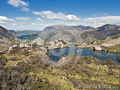Lake district cumbria mountain view