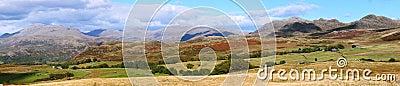Lake district England in panorama