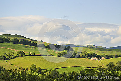 Lake district, farm on the fells, Cumbria