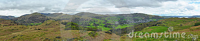 Lake District landscape panorama, England
