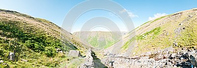 Lake District, in the Mountains - panorama