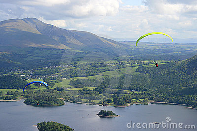 Lake District paragliders