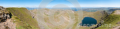 Lake District, View from Helvellyn - Panorama