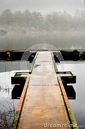 Free Lake, Dock, And Fog Royalty Free Stock Photos - 1726958