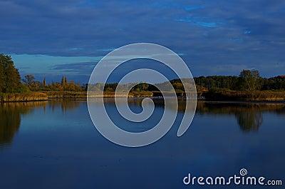 Lake at dusk