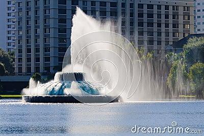 Lake Eola water fountain