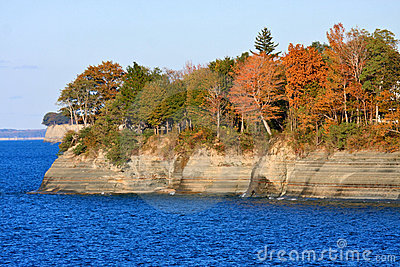 Lake Erie Cliffs in Autumn