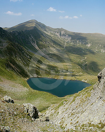 Lake in Fagaras mountains