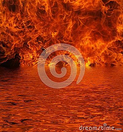 Lake on Fire