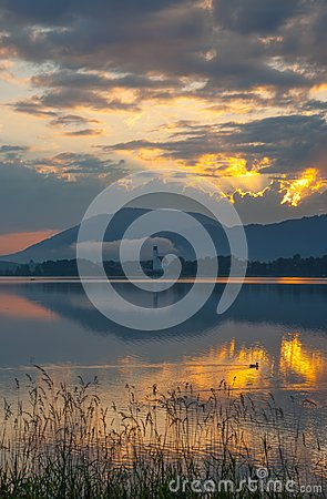 Lake Forggensee,Bavaria,Germany