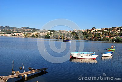 Lake of Ganzirri - Messina Editorial Stock Photo