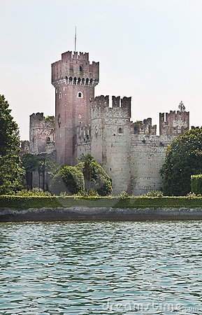 Free Lake Garda - Castle Of Lazise Stock Image - 12762181