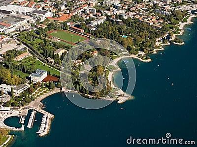Lake Garda Coast Aerial