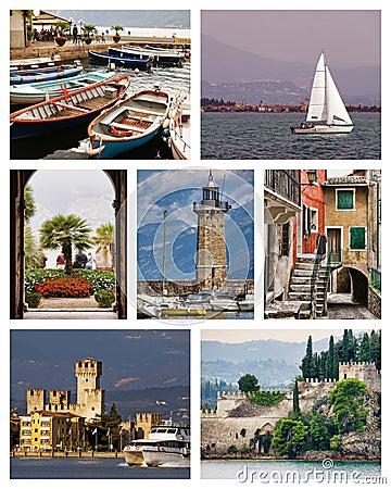 Free Lake Garda Collage Royalty Free Stock Photography - 7635497