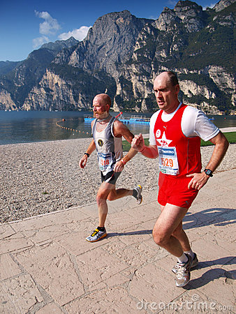 Lake Garda Marathon 2008 Editorial Stock Image
