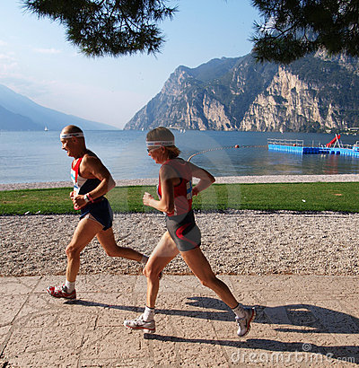 Lake Garda Marathon 2008 Editorial Photography