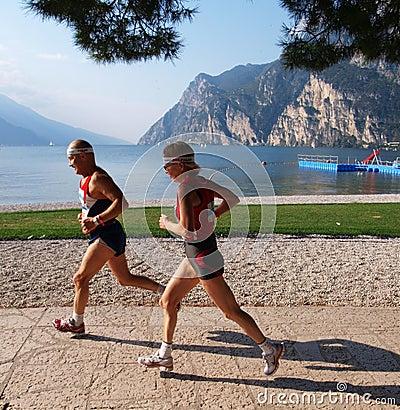 Lake Garda Marathon 2008 Editorial Photography