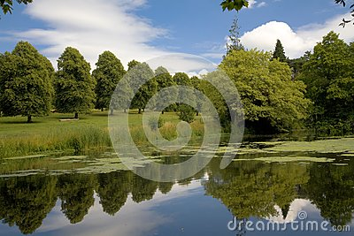 Lake and Gardens at Forde Abbey, Dorset