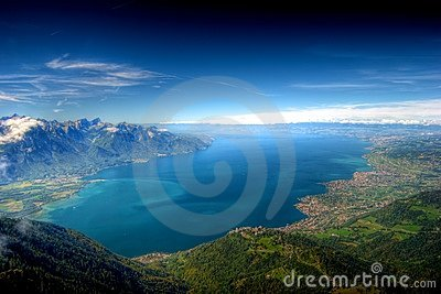 Lake Geneva, Switzerland, HDR Background