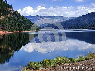 Lake With Gorgeous Mountain Reflection