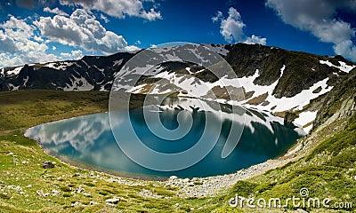 Lake in high mountain