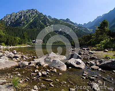 Lake in High Tatras, Slovakia