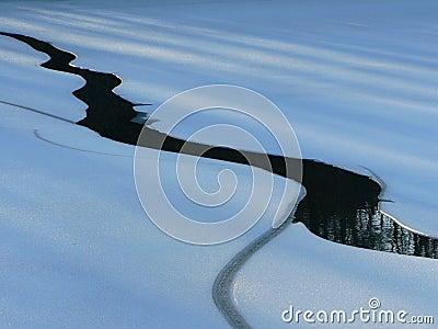 Lake ice melting