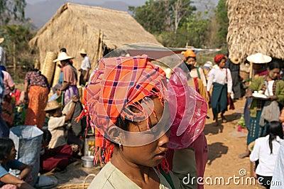 Lake Inle, MYANMAR - Friday Market Editorial Stock Photo