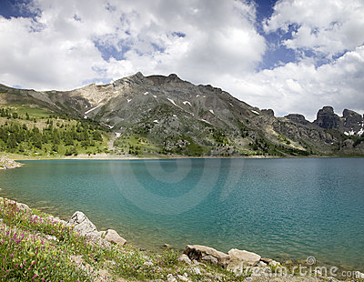 Lake int he French Alpes