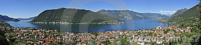 Lake Iseo panorama