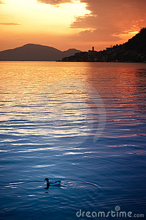 Free Lake Iseo Sunset Stock Photos - 12897853