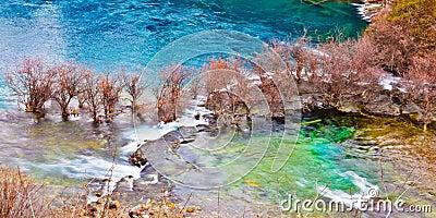 Lake in Jiuzhai Valley