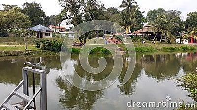 A lake in kluang town, johor malaysia.  stock footage