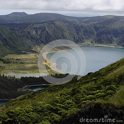 The lake Lagoa do Fogo on the Sao Miguel island