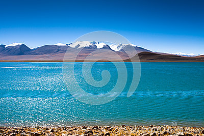 Lake Lake Rinqin Xubco in Zhongba county