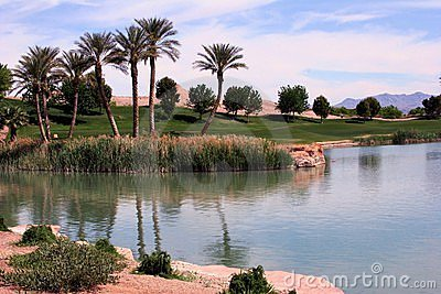 Lake Las Vegas Golf Course Editorial Photo