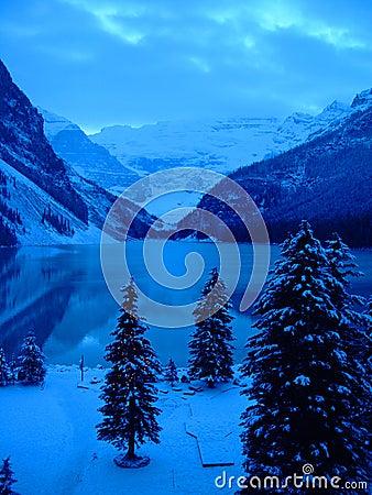 Free Lake Louise At Christmas Stock Images - 374844