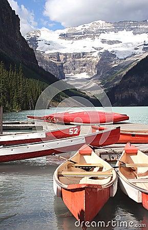 Lake Louise canoes Canada