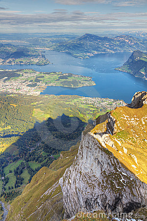 Lake Lucerne mountain view ,