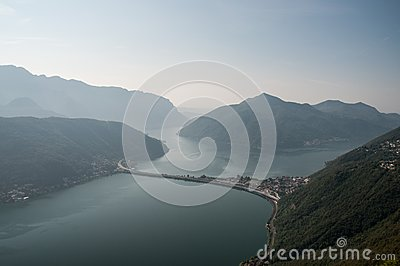 Lake of Lugano-Switzerland