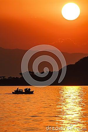Free Lake Malawi Sunset Stock Photos - 52153913