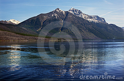 Lake McDonald Mountain Reflection Glacier Montana