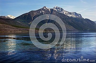 Lake McDonald Mountain Reflection Glacier Montana