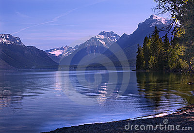 Lake McDonald Reflection Glacier National Montana