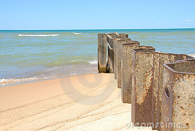 Lake Michigan Shoreline Breakers