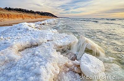 Lake Michigan Winter Shoreline