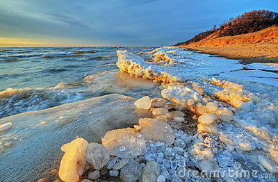 Lake Michigan Winter Shoreline