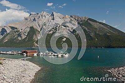Lake Minnewanka at Banff, Alberta, Canada