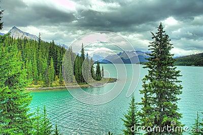 Lake Moraine Jasper Alberta